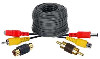 Power & Video, Plug and Play Cables for 6 to 12 Volt DC cameras & pan tilt units.