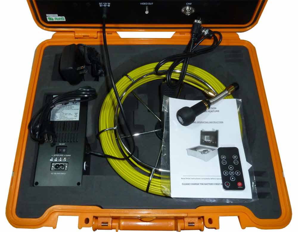 Snake Color Pipe And Wall Inspection System