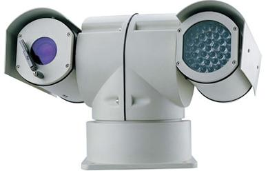 Weatherproof Rapid motion Pan Tilt Zoom, Night and Day, Outdoor Color Camera System with controller, Infrared Illuminator, cable & power supplies. See in complete darkness up to 300 feet.