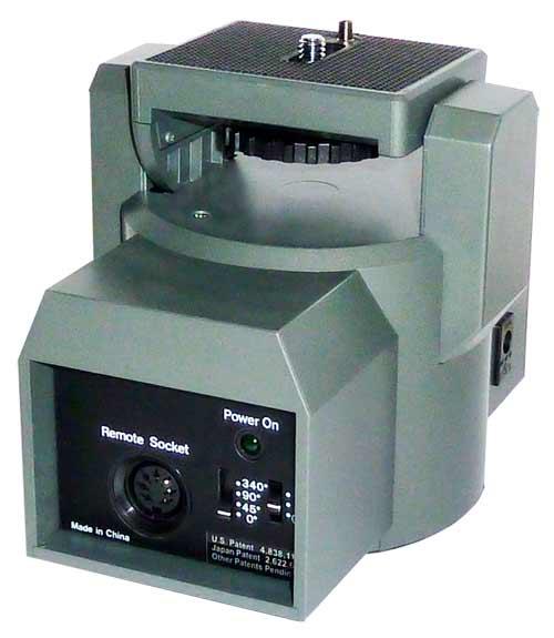 Motorized pan tilt heads mp 101 340 pan 30 degree tilt for Pan and tilt head motorized
